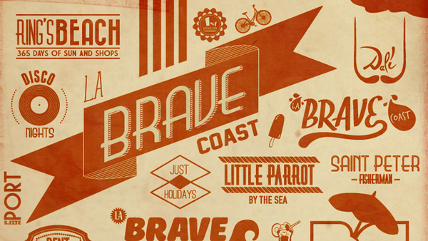 La Brave Coast on Behance #type #illustration #poster