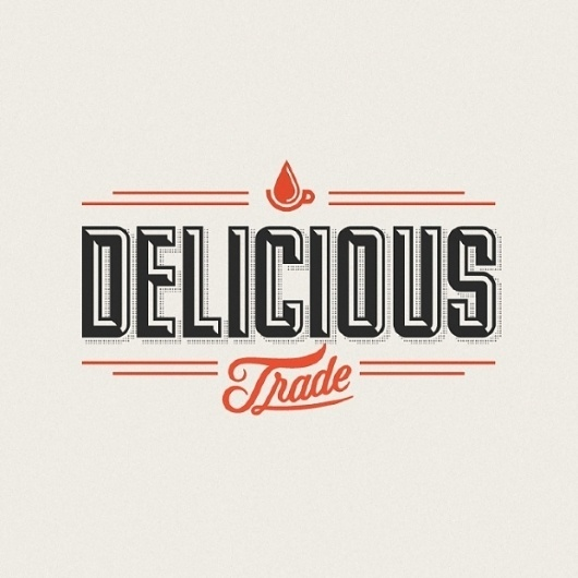 Delicious Trade Identity - Drew Melton | Design.org #typography #cool