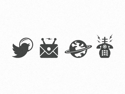 Space_theme_icons_for_letterpress #vector #icons #space #illustrations
