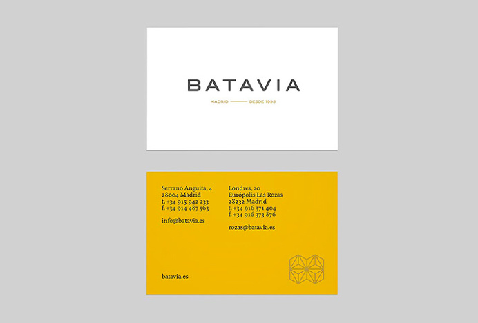Batavia by We Are Rifle #graphic design #business cards #print