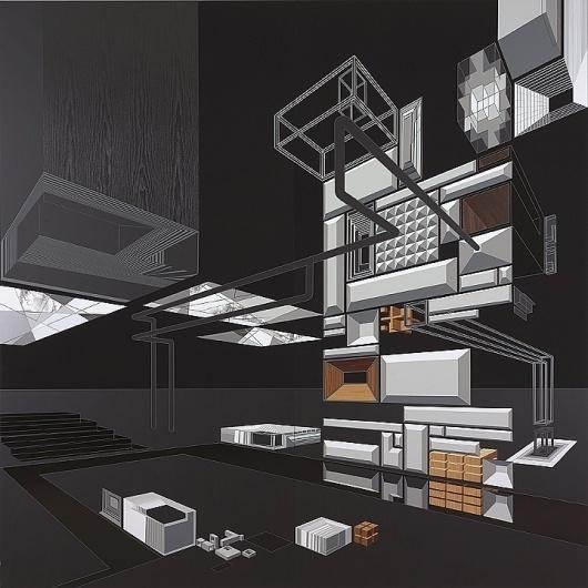 Ian Monroe - LCD-1V #ian #abstract #geometry #monroe #art #architectural