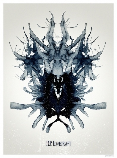 Fear of the Unknown - HP Lovecraft Poster on the Behance Network #lovecraft #ink #rorschach #horror #scifi #poster #monster #cthulhu #test