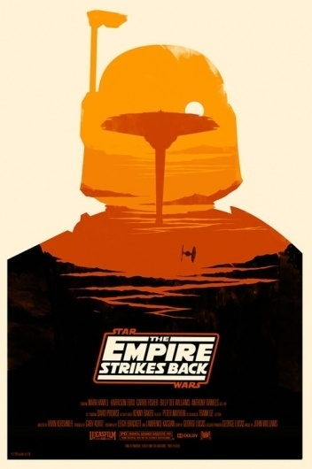British Artist Redesigns 'Star Wars' Posters - DesignTAXI.com #boba #empire #wars #fett #star #poster