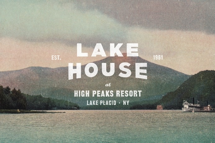 Tag Collective | Lake House Logo #placid #mountain #branding #design #graphic #clean #nyc #vintage #lake #logo #resort #york #new