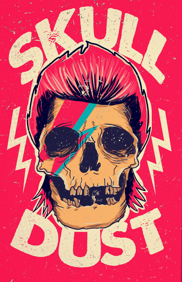 mad mari #illustration #bowie #skull