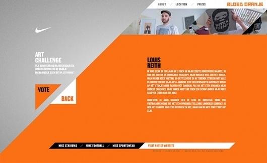 Nike - Bloed Oranje on the Behance Network #site #nike #web