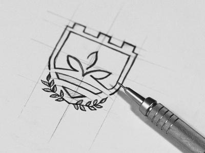 Logo sketching by Bratus #logo #brand mark #icon #logo sketch #logo process #vietnam #logotype