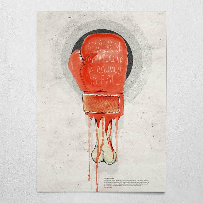 #dictatorship #beige #poster #wallart #steinbeck #dictatorship #boxingglove