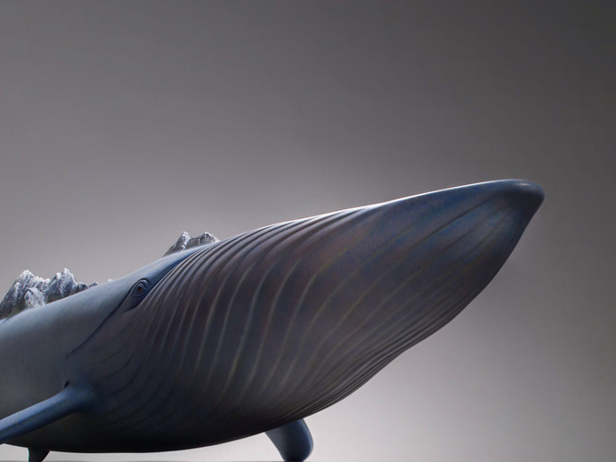 Surreal Animal Sculptures Carrying Monumental Elements of Nature by Wang Ruilin sculpture copper animals #whale #sculpture