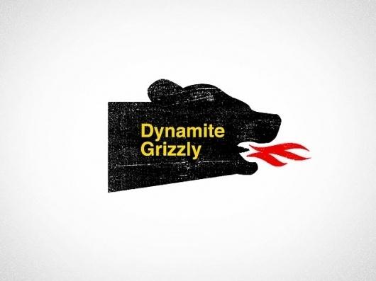 Ross Bruggink #grizzly #dynamite #print #letterpress #distress #identity #logo