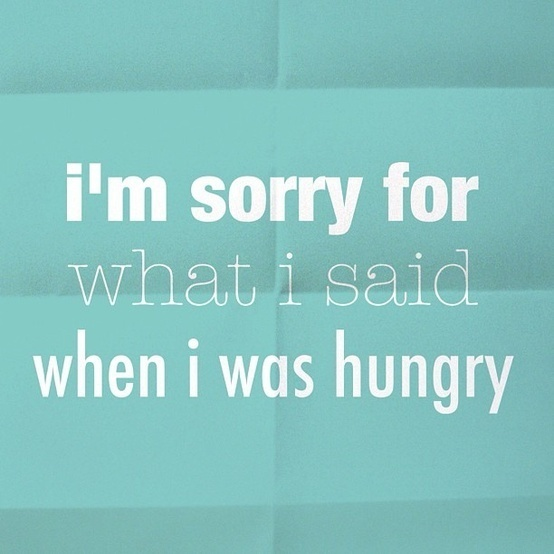 hangry. #quote