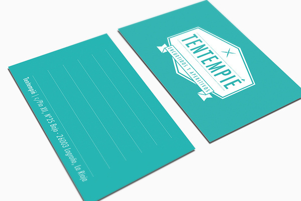 Tentempié Carlosbull Diseño gráfico/Graphic Design @ Barcelona #old #card #school #design #graphic #shapes #brand #identity #vintage #stationery #logo #bussines #green