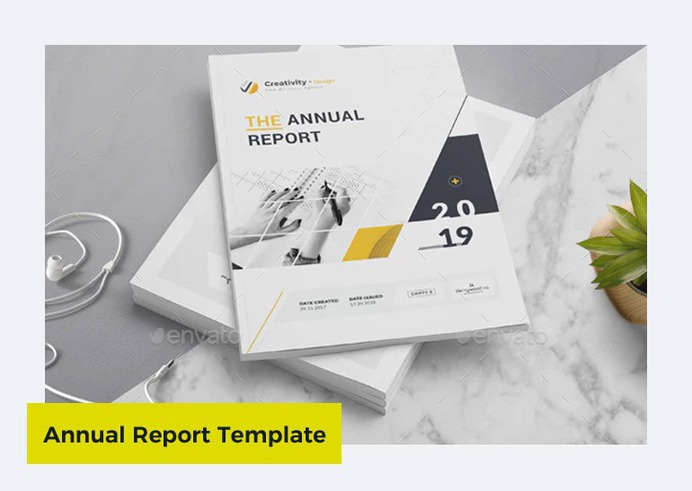 Annual Report Template in Word by Creativity-Design