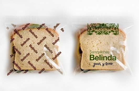 22DG Portfolio Belinda #sandwich #water #packaging #belinda #identity #22dg #bag #helvetica #typography