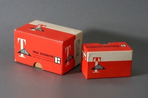 Javier Garcia » Triad Distributor Packaging circa 1961 #packaging #1961 #triad