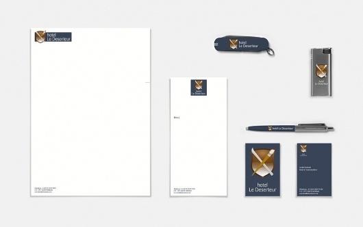 JAMES OCONNELL DESIGN AND ART DIRECTION | HOTEL LE DESERTEUR IDENTITY #swiss #stationary #branding #hotelier #claret #bruch #identity #deserteur #logo