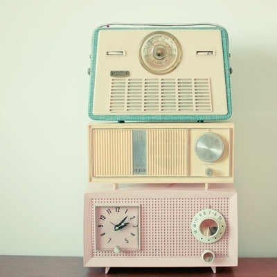 Radio Stations by Cassia Beck #radio #retro #vintage #music #pastel