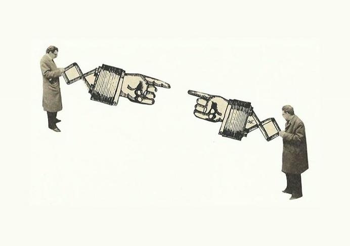 Dialogando. Germen de Trigo Collages. #collage #artist #illustration #germendetrigo #hands #vintage #Murcia