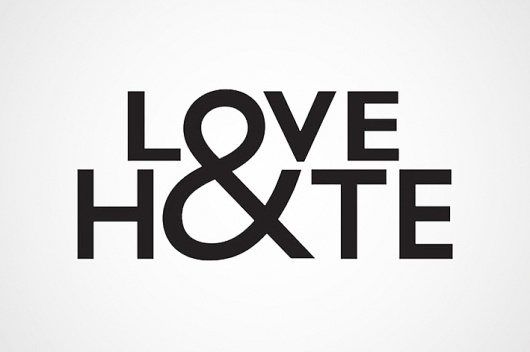 Love&Hate : Jack Maxwell #ampersand #logo #logotype #typography