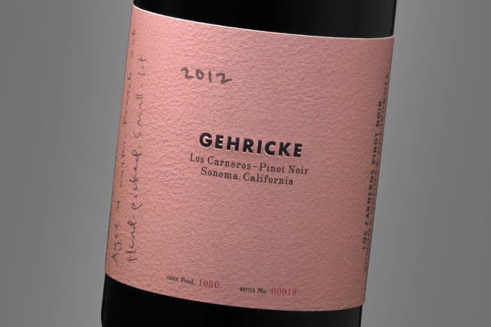 Gehricke ~ Pinot Noir ~ Wine Label Design ~ Auston Design Group