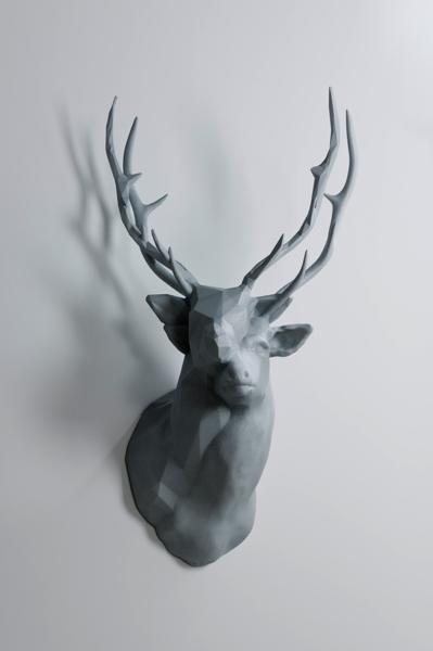 Polygon Double Deer #inspiration #abstract #creative #design #unique #sculptures #cool