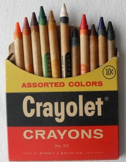 All sizes | CRAYOLET Crayons 1960s | Flickr - Photo Sharing! #crayons #vintage #package