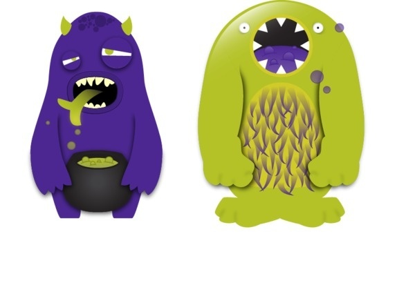 Beast Blend on the Behance Network #cute #bright #illustration #monsters
