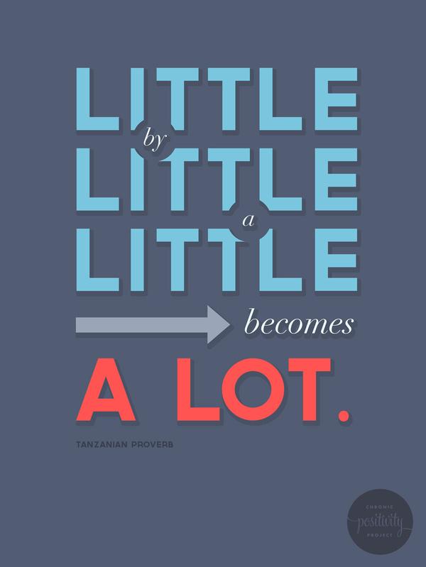 #26: Little by little