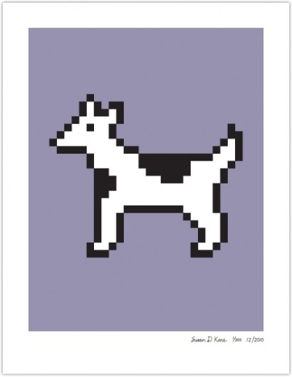 DOG COW | Susan Kare Prints #apple #icons #poster