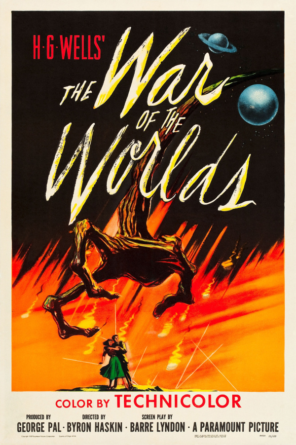 War of the Worlds #fi #sci #wells #illustration #vintage #poster #technicolor