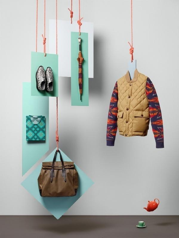 British Fashion Council & GQ Sarah Parker Creative #window #shop #colthing #interior
