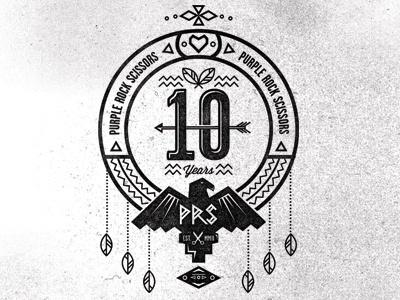 Dribbble - PRS 10 Year Crest Pt4 by Adam Grason #logo #illustration #typography
