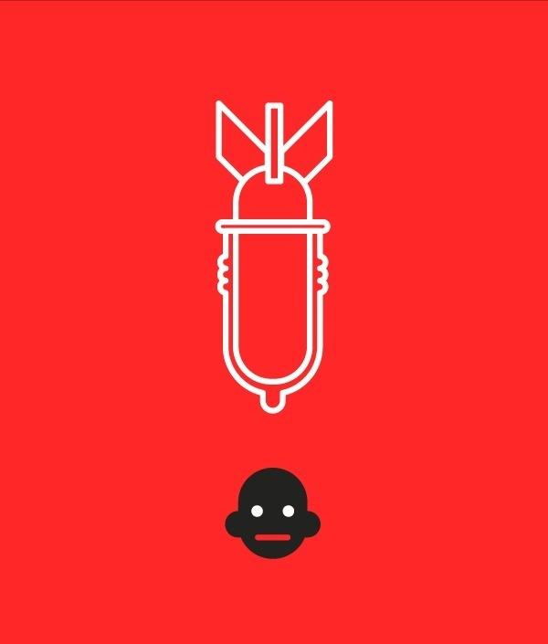 VIH #nobel #illustration #peace #lined