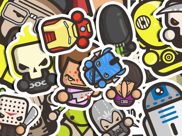 simple on Behance #simple #illustration #sticker #pop