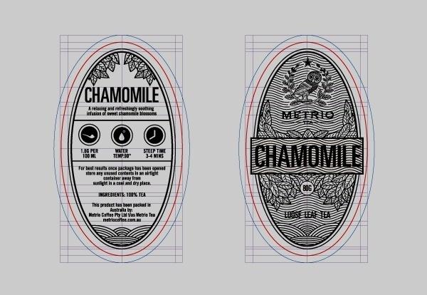 14 chamomile packaging design loose leafe tea design photo #tea #label #branding