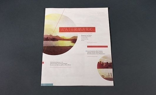 Watermark - Words by the Water on the Behance Network #print #layout #magazine