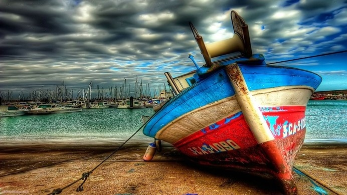Boat on Sandbar #inspiration #photography #hdr