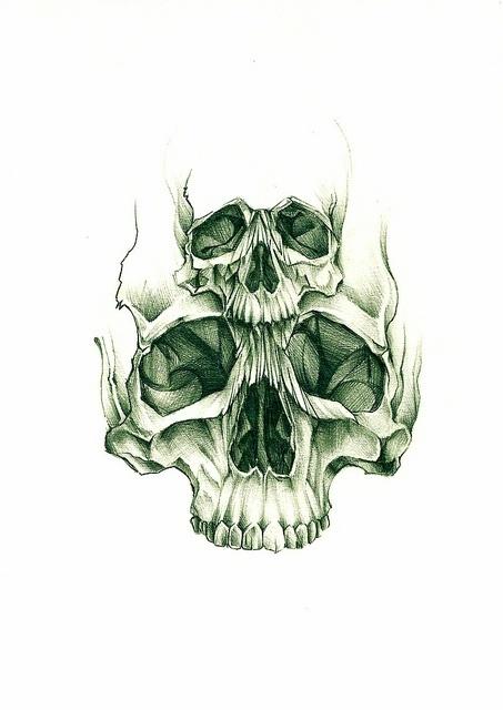Double skull sketch by Rebel Monkey Tattoos