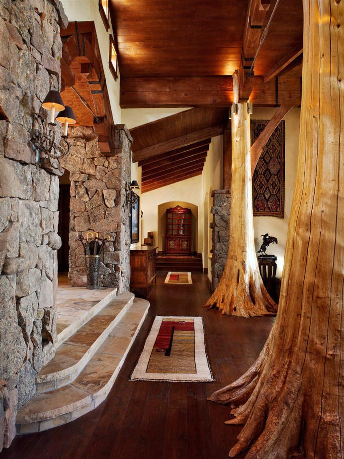 Log and Timber Frame Custom Home - C Lazy U Ranch, Colorado #House #interior #design #architecture