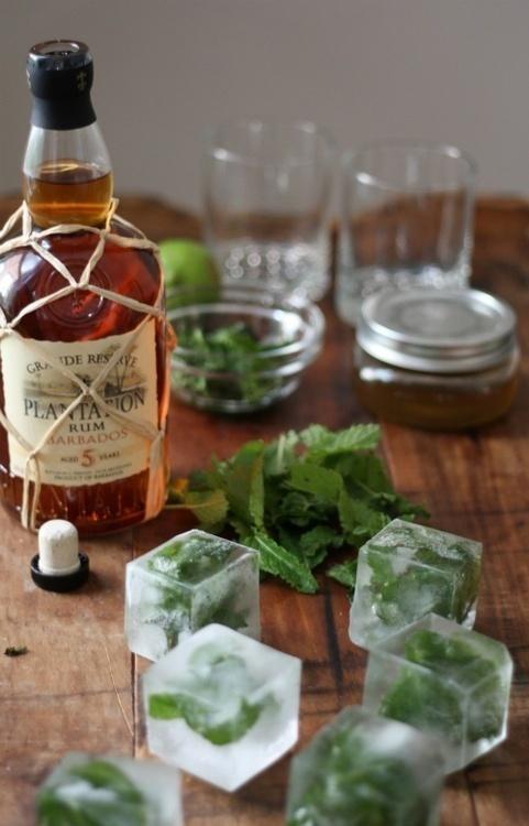 Cubes #rum #cubes #drinks #mint
