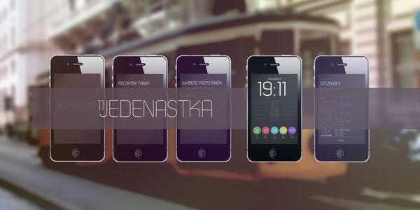 '11Jedenastka' - public transport schedule app #bus #public #tram #iphone #app #mobile #schedule #transport