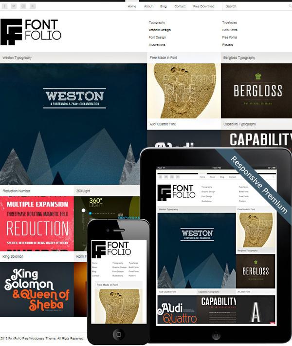 FontFolio Theme #font #portfolio #design #word #website #press #web #typography