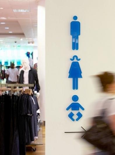 Oxford Street store wayfinding & signage | Cartlidge Levene #signage #icons #symbols #iconography
