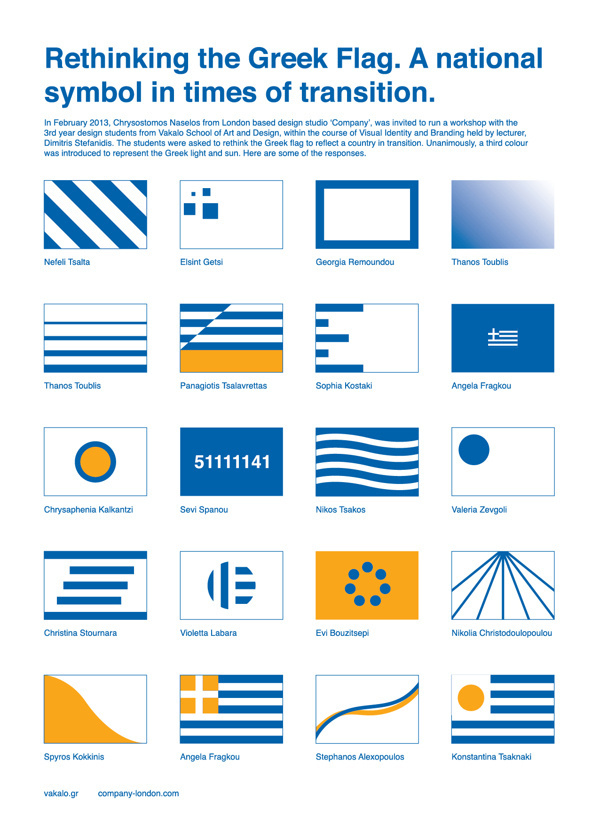 Rethinking the Greek Flag.
