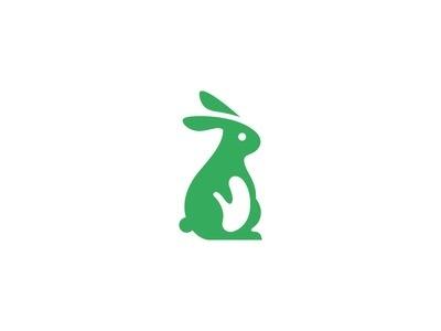 Easter Bunny mark #mark #logo #bunny #easter