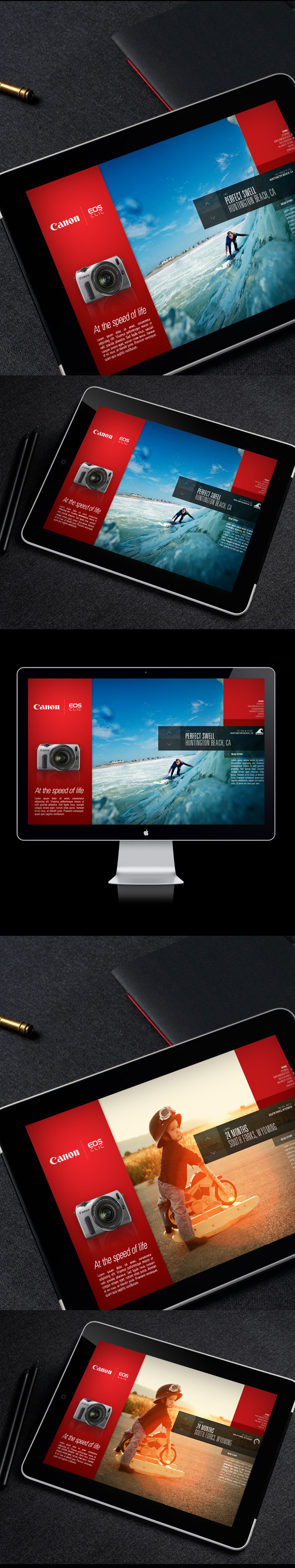 Canon EOS M / Campaign Microsite on the Behance Network #page #landing