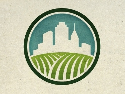 Urban Farming Identity by Steve Hamaker #urban #branding #crest #farming #logo