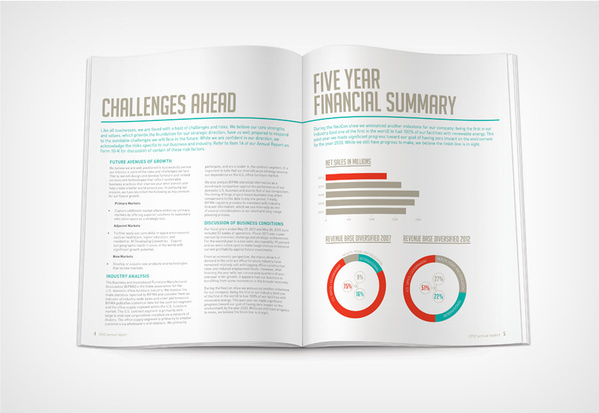 Herman Miller #annual #report #layout #ring #chart #typography