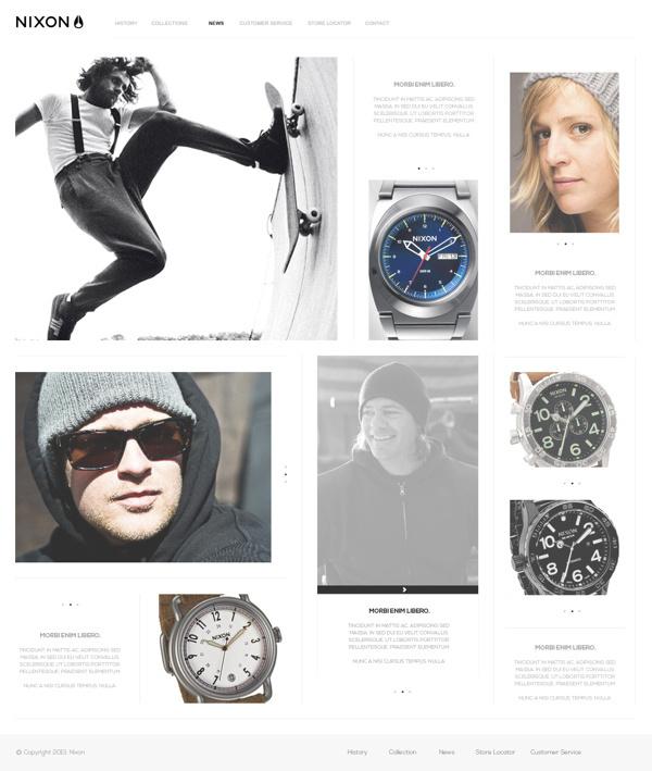NIXON Inc // Redesign_Web #redesign #behance #nixon #webdesign #lordzlz #web