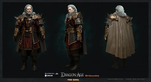 king comp #3d #dragon #age #king